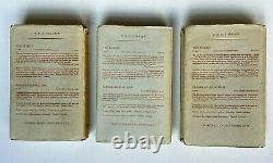 1954 J. R. R. Tolkien Lord of the Rings Trilogy 1st Editions 1st and 2nd Printings