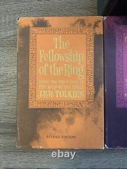 1965 Lord Of The Rings Trilogy Hardcover Boxed Set 2nd Edition With Maps Book Set