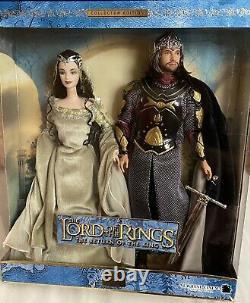 2003 Barbie Ken Lord of the Rings Arwen Aragon Barbie Giftset NRFB NEW