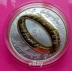 2003 Lord Of The Rings Silver Gold One Ring To Rule Them All Proof Coin