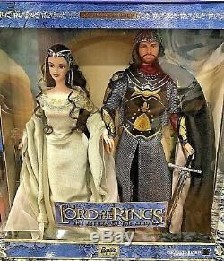 2003 Lord of the Rings Barbie & Ken Doll as Arwen & Aragorn Giftset #B3449 NRFB