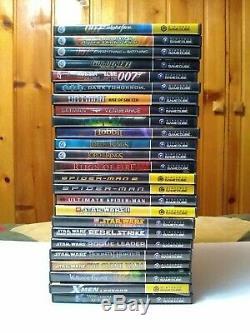 (25) Nintendo Gamecube Game Lot 007, Batman, Lord of the Rings, Star Wars, X-Men