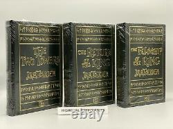 3V Easton Press THE LORD OF THE RINGS Tolkien Collectors LEATHER Edition SEALED