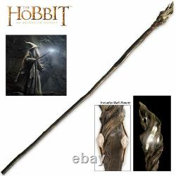 73 Officially Licensed Hobbit Lord of the Rings Gandalf Wizard Staff with Mount