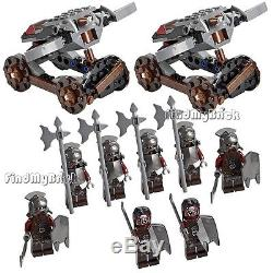 8x Lego Lord of the Rings Uruk-hai Minifigures & 2 Hook Shooters No Box NEW 9471