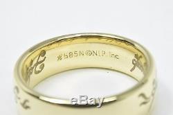 Authentic Lord of The Rings of Power 14k Solid Yellow Gold Band Sizable 6.5 NLP