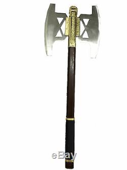 Battle Axe of Gimli GOLD Finish from lord of the ring Full Size