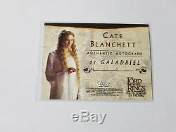 Cate Blanchett Lord Of The Rings Autograph Card Galadriel Auto Lotr Fellowship