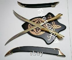 Daggers legolas lord of the rings with wall plaque LOTR fantasy sword dagger