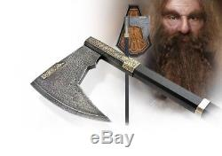 Discontinued Bearded Axe of Gimli Rare Lord of the Rings UC2628