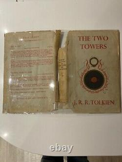 First Edition 1st Impression Two Towers Lord Of The Rings J R R Tolkien 1955 Dj