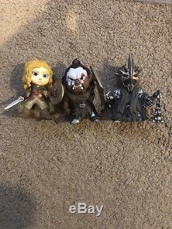 Funko Mystery Minis Lord Of The Rings Hot Topic Exclusive Lurtz, Eowyn, Witch King