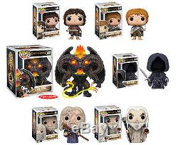 Funko POP! Movies LORD OF THE RINGS 6-FIGURE SET Balrog, Frodo, Gandalf+++