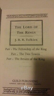 J. R. R Tolkien Lord of the Ring Collectors Guild Classics Set Harback Books