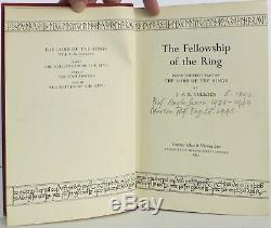 J R R Tolkien / Lord of the Rings-Trilogy (Fellowship ARC, others firsts)