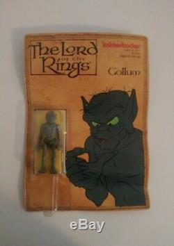 Knickerbocker Lord of the Rings Gollum Action Figure 1979 Unpunched Vintage Rare