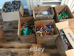 LARGE LOT Legos 138 lbs MOST Star Wars Lord of the Rings Harry Potter & MANUALS