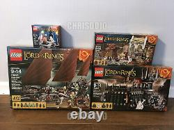 LEGO Lord of the Rings wave 2 LOT 79008 79007 79006 79005 NEW SEALED