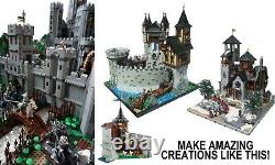 LEGO (x1700pc's) 2KG CASTLE & Lord of the rings creativity moc packs Rare parts