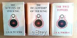 LORD OF THE RINGS J. R. R. Tolkien UK 1st Editions (1954-55) FIRST 5,4,2 Imp