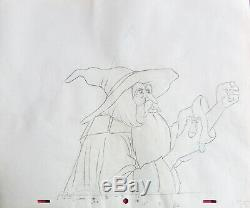 LORD OF THE RINGS ORIGINAL ANIMATION PRODUCTION DRAWINGS (with Free Autograph)