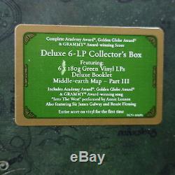 LORD OF THE RINGS RETURN OF KING Ltd. Edition 180g GREEN Vinyl 5LP Box NEW