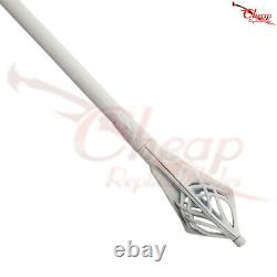 LORD OF THE RINGS Staff Gandalf the White Finish Sword Replica
