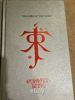 LORD OF THE RINGS Trilogy J R R Tolkien Silver Anniversary Edition 1981 with box