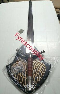 LOTR Lord of the Rings Boromir's sword fantasy boromir Hobbit with wall plaque
