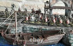 LOTR Lord of the Rings Painted Scenic Base Diorama with WOTR Gondor 1500 pnts Army