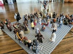 Lego Hobbit Lord of the Rings, over 70 minifigs, Elves, Dwarves, Orcs, Wargs