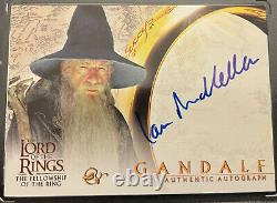 Lord OfThe Rings Fellowship Of The Ring Topps GANDALF Ian McKellen Auto Card