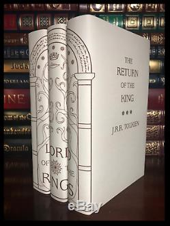 Lord Of The Rings 3 Volume Trilogy Set by Tolkien New Hardback Custom Gift Set