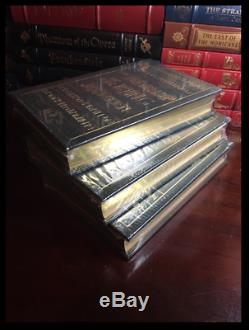Lord Of The Rings 3 Volume Trilogy Set by Tolkien Sealed Easton Press Leather