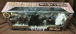 Lord Of The Rings Black Gate Mordor Deluxe 6-figure Mouth Sauron & Steed Misb