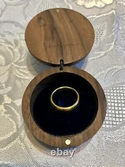 Lord Of The Rings Gold Plated Ring in Presentation Box from Hobbiton, NZ
