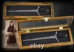 Lord Of The Rings Hobbit Morgul Prop Replica Sword Letter Opener Wood Display
