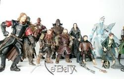 Lord Of The Rings Huge Lot of 19 Action Figures 2000's