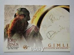 Lord Of The Rings John Rhys-Davies Signed Autograph Card Topps 2001 (BLACK INK)