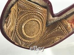 Lord Of The Rings Pipe Block Meerschaum-NEW W CASE churchwarden#214 Free Ship