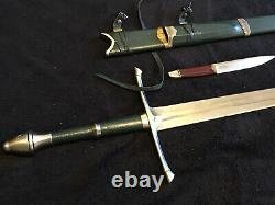 Lord Of The Rings Strider Sword And Scabbard United Cutlery UC1299 And UC1366
