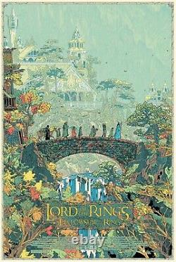 Lord Of The Rings The Fellowship Of The Ring By Kilian Eng Variant Mondo Artist