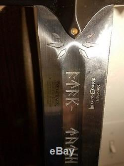 Lord Of The Rings United Cutlery Anduril Sword Of King Elesar LIMITED EDITION