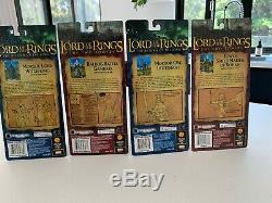 Lord Of The Rings action figures Epic Trilogy (Toybiz) 4 x Rare Figures