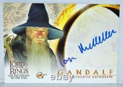 Lord of The Rings Fellowship LOTR FOTR Sir Ian McKellen Gandalf Autograph Card
