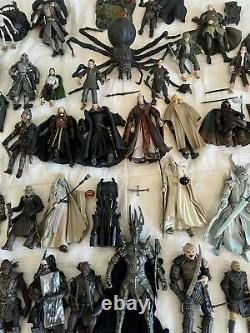 Lord of the Rings Action Figures HUGE LOT 65+ Toybiz, Marvel LOTR Toys