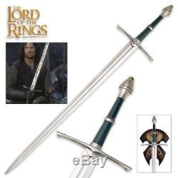 Lord of the Rings Aragorn 47 Strider Sword with Plaque United Cutlery COA
