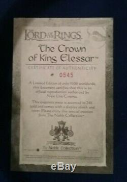 Lord of the Rings CROWN OF ARAGORN / CROWN OF KING ELESSAR The Noble Collection