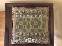 Lord of the Rings Chess Set Franklin Mint with Box