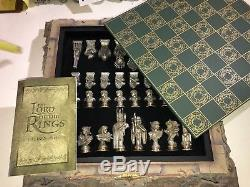 Lord of the Rings Collector's Chess Set Franklin Mint Stephen Hickman 20 x20#115